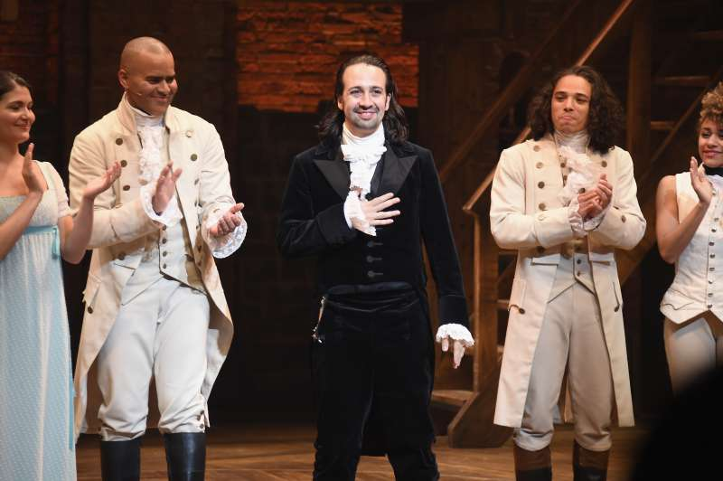 Lin-Manuel Miranda at his final performance of  Hamilton  on Broadway at Richard Rodgers Theatre on July 9, 2016 in New York City.