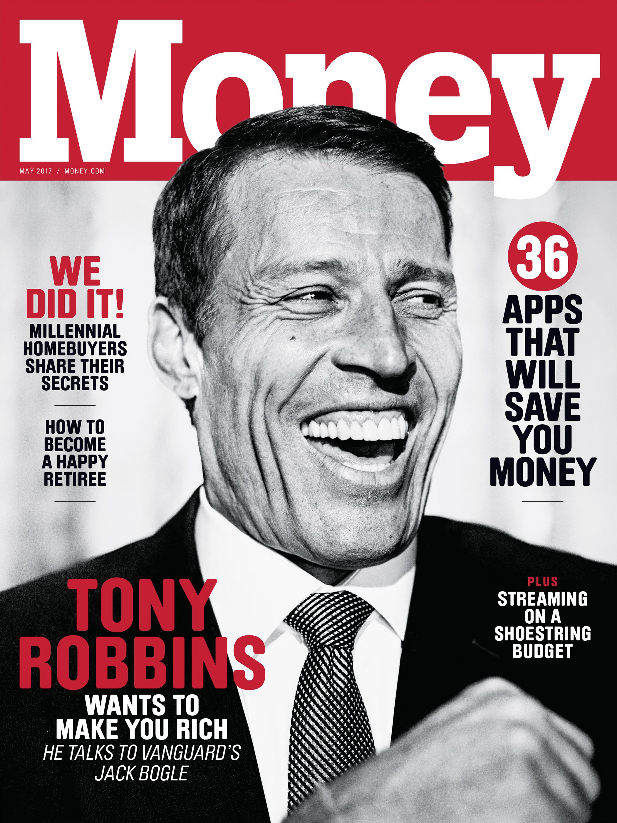 Money magazine May 2017 cover with Tony Robbins