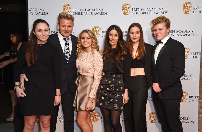 (L to R) Megan Ramsay, Gordon Ramsay, Matilda Ramsay, Tana Ramsay, Holly Ramsay and Jack Ramsay.