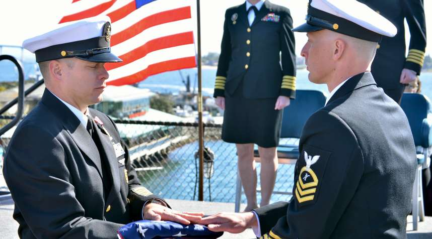 Senior Chief Legalman Shannon W. Miller retired after 23 years during a ceremony aboard USS Midway (CV-41) in San Diego.