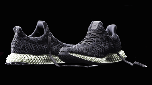 The Adidas Futurecraft 4D has a 3-D printed sole.