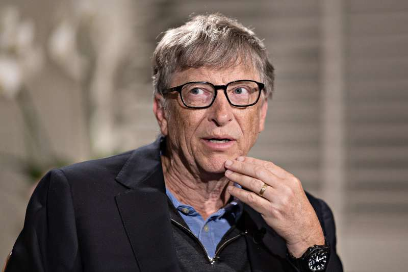 Bill Gates, billionaire and co-chair of the Bill and Melinda Gates Foundation, speaks during a Bloomberg Television interview in Geneva, Switzerland