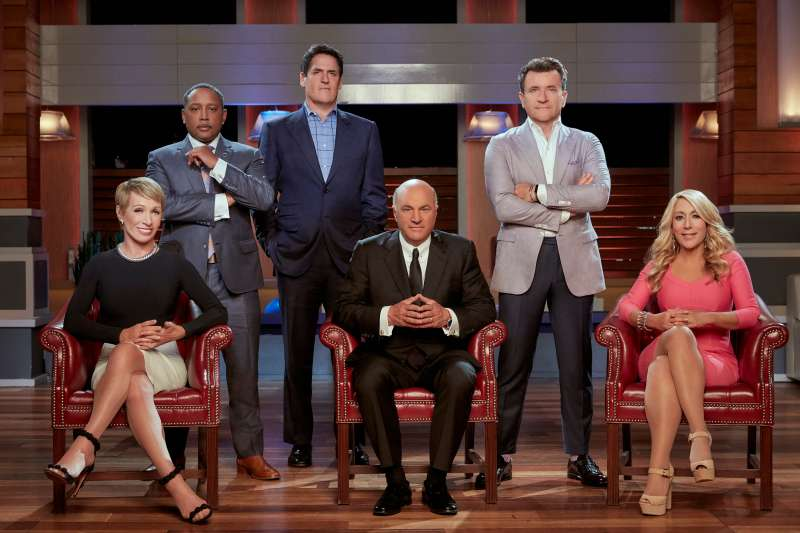 SHARK TANK - Barbara Corcoran, Daymond John, Mark Cuban, Kevin O'Leary, Robert Herjavec  and Lori Greiner are the  Sharks  on ABC's  Shark Tank.  (Patrick Ecclesine/ABC via Getty Images)