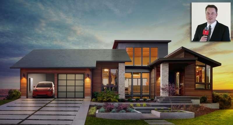 Tesla's solar roof.