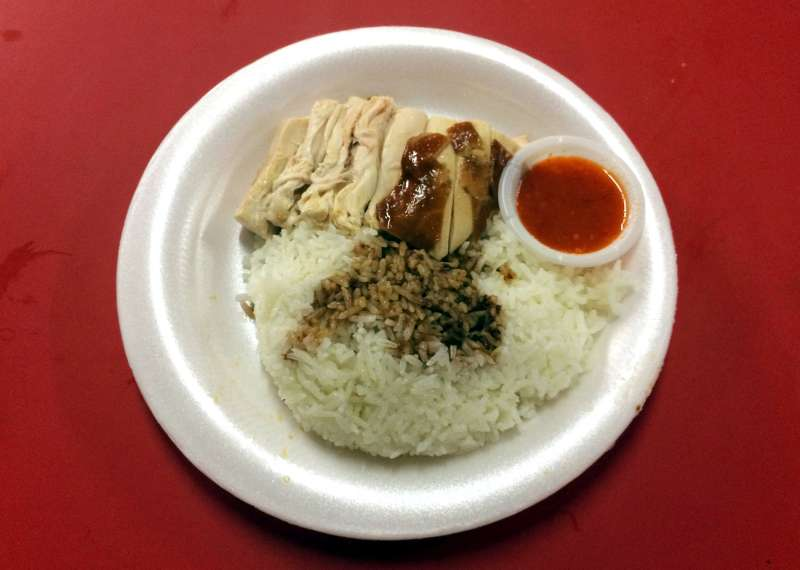 Chicken with soy sauce can be seen outside the Chan Hong Meng food stall in Singapore, Singapore, October 26, 2016.