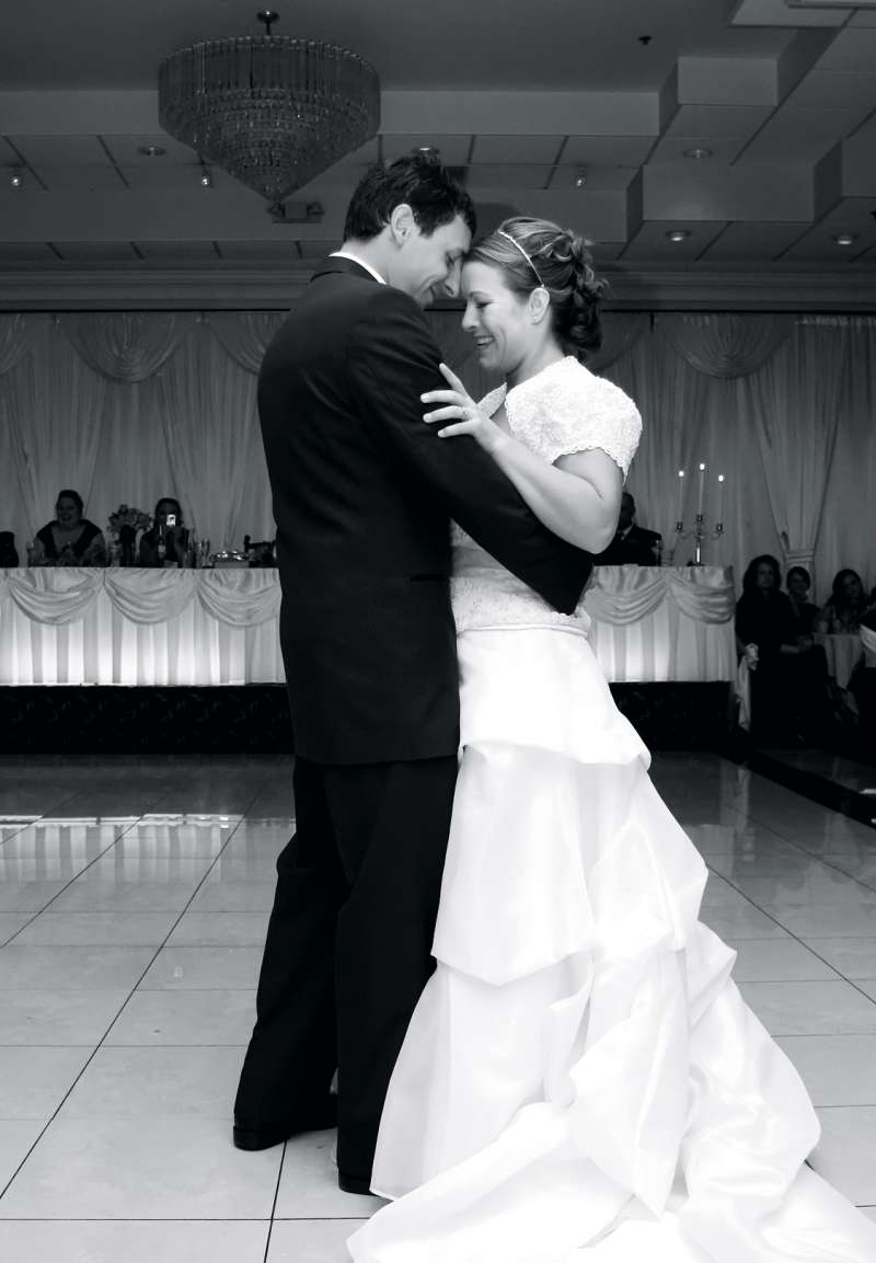Erica and Wade Loewe enjoy their first dance as husband and wife eight years ago.