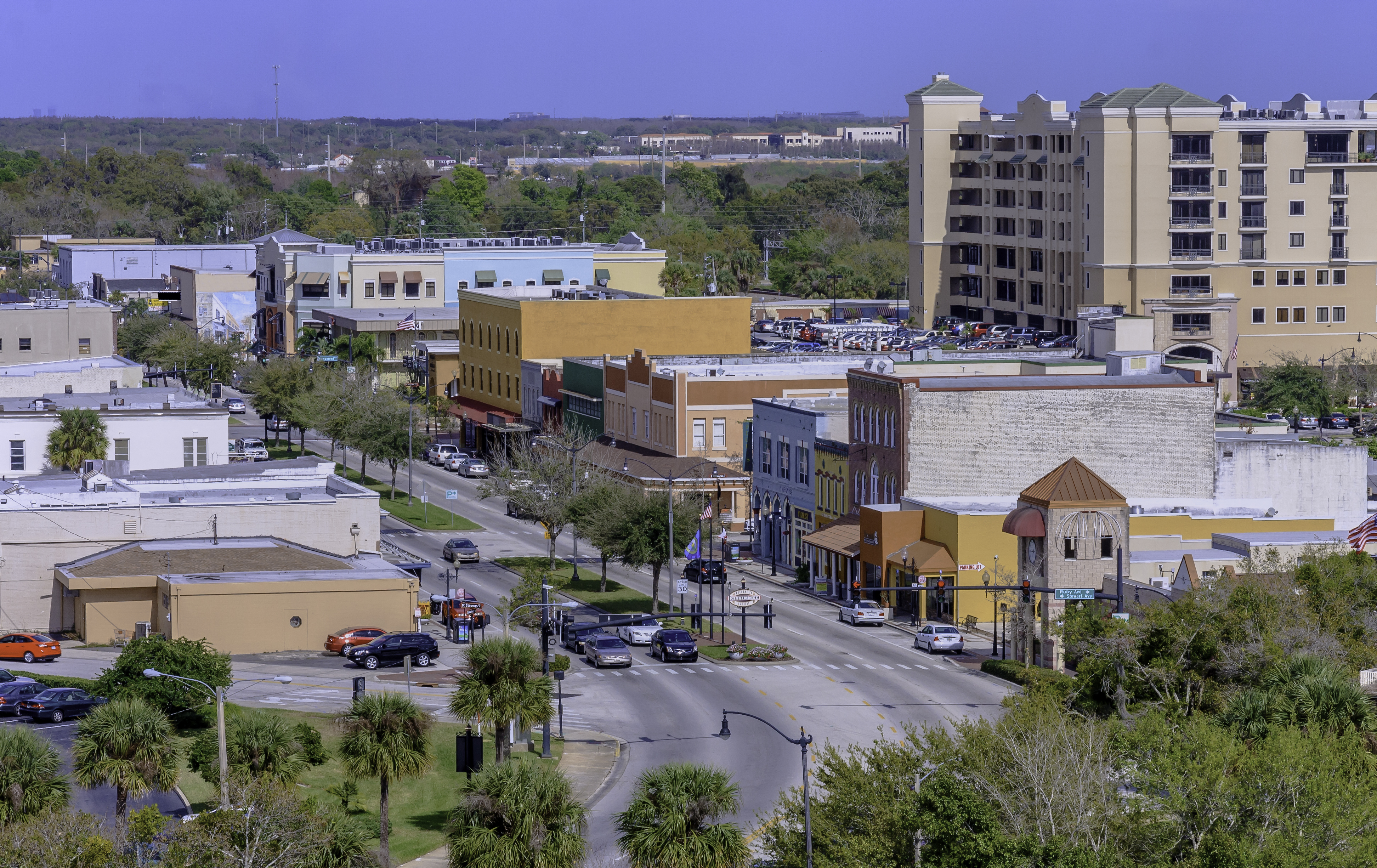 Aerial View of Kissimmee's Historic Downtown