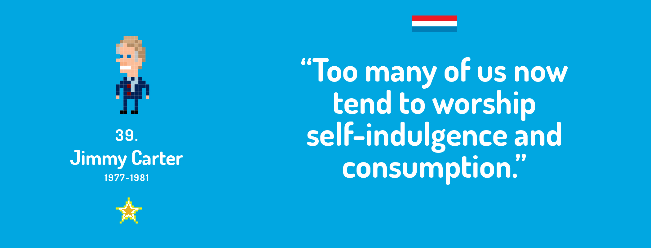 Too many of us now tend to worship self-indulgence and consumption.