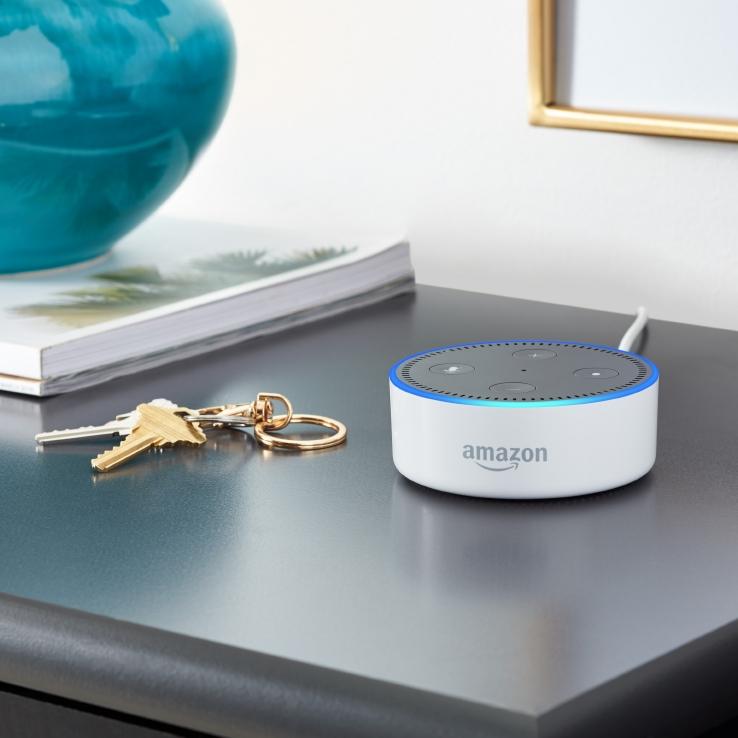 Amazon Echo Dot, White, Shelf