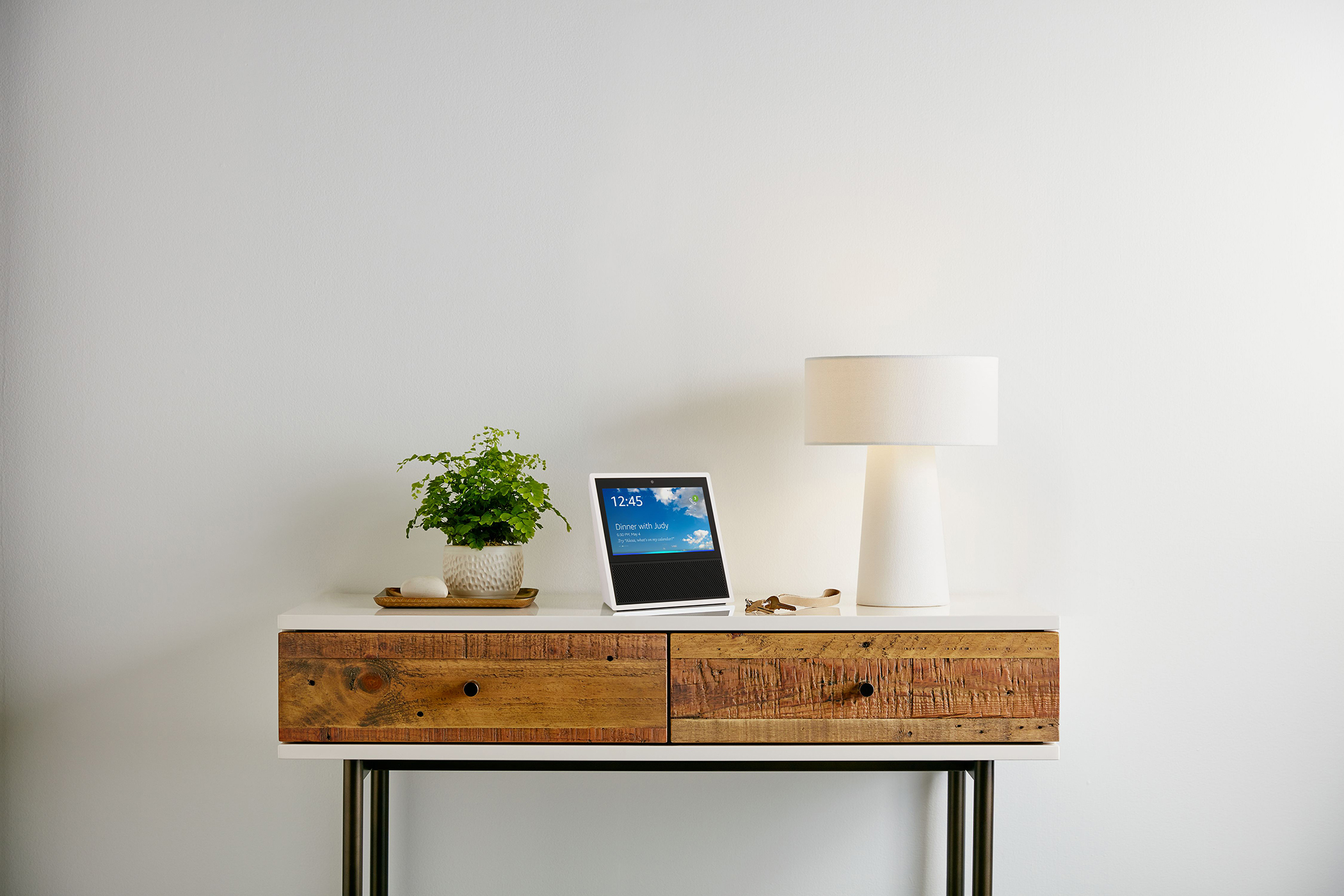 Amazon Echo Show, White, Living Room