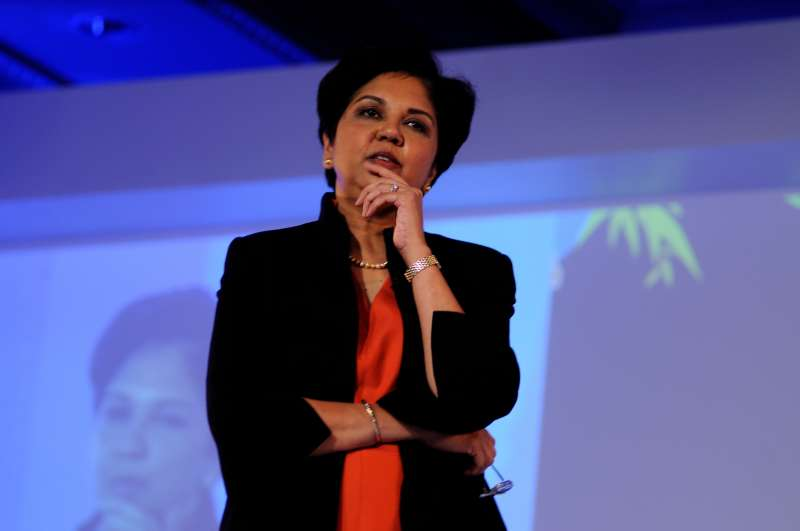 NEW DELHI, INDIA  NOVEMBER 3, 2011: Indra Nooyi, Chairman and CEO of Pepsico, photographed at Adasia 2011. (Photo by Pradeep Gaur/Mint via Getty Images)