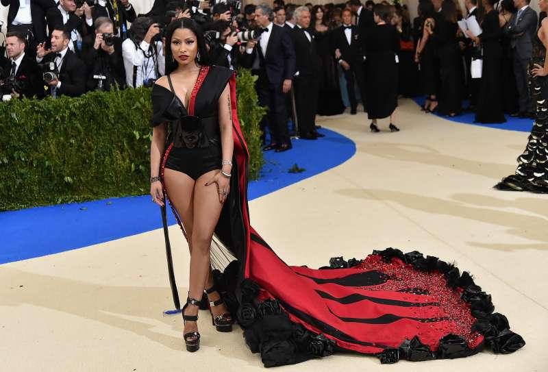 Nicki Minaj attends the  Rei Kawakubo/Comme des Garcons: Art Of The In-Between  Costume Institute Gala at Metropolitan Museum of Art on May 1, 2017 in New York City.