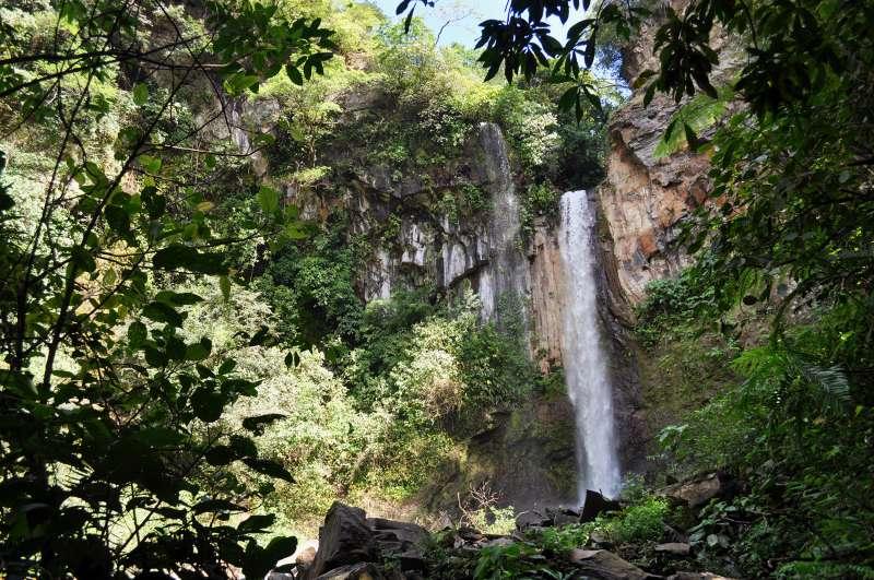 Waterfall in the forest by Buena Vista Lodge, near Liberia, Guanacaste, Costa Rica