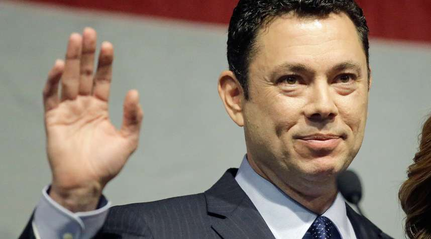 In this May 20, 2017 file photo, U.S. Rep. Jason Chaffetz waves after addressing the Utah GOP Convention in Sandy, Utah. Chaffetz, of Utah, has cemented his plans to resign from the U.S. House of Representatives effectively June 30.