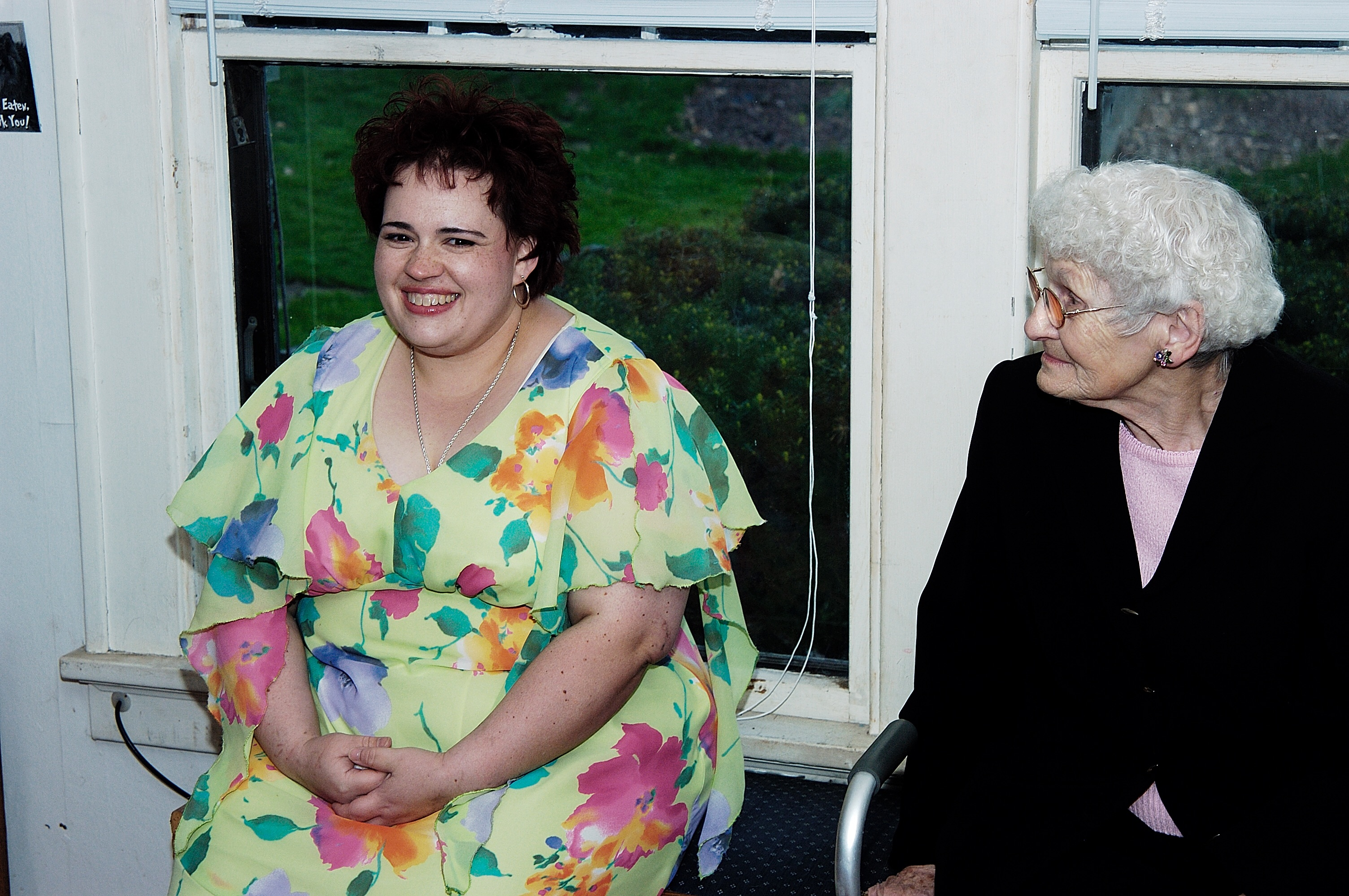 The late Kelly Wilkins with her grandmother, who is now opting for hospice treatment.