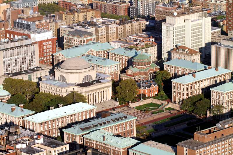 Aerial view of Columbia University in New York City