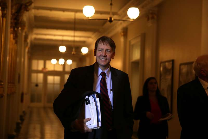 Consumer Financial Protection Bureau Director Richard Cordray arrives at a meeting of the Financial Stability Oversight Council November 16, 2016 at the Treasury Department in Washington, DC.