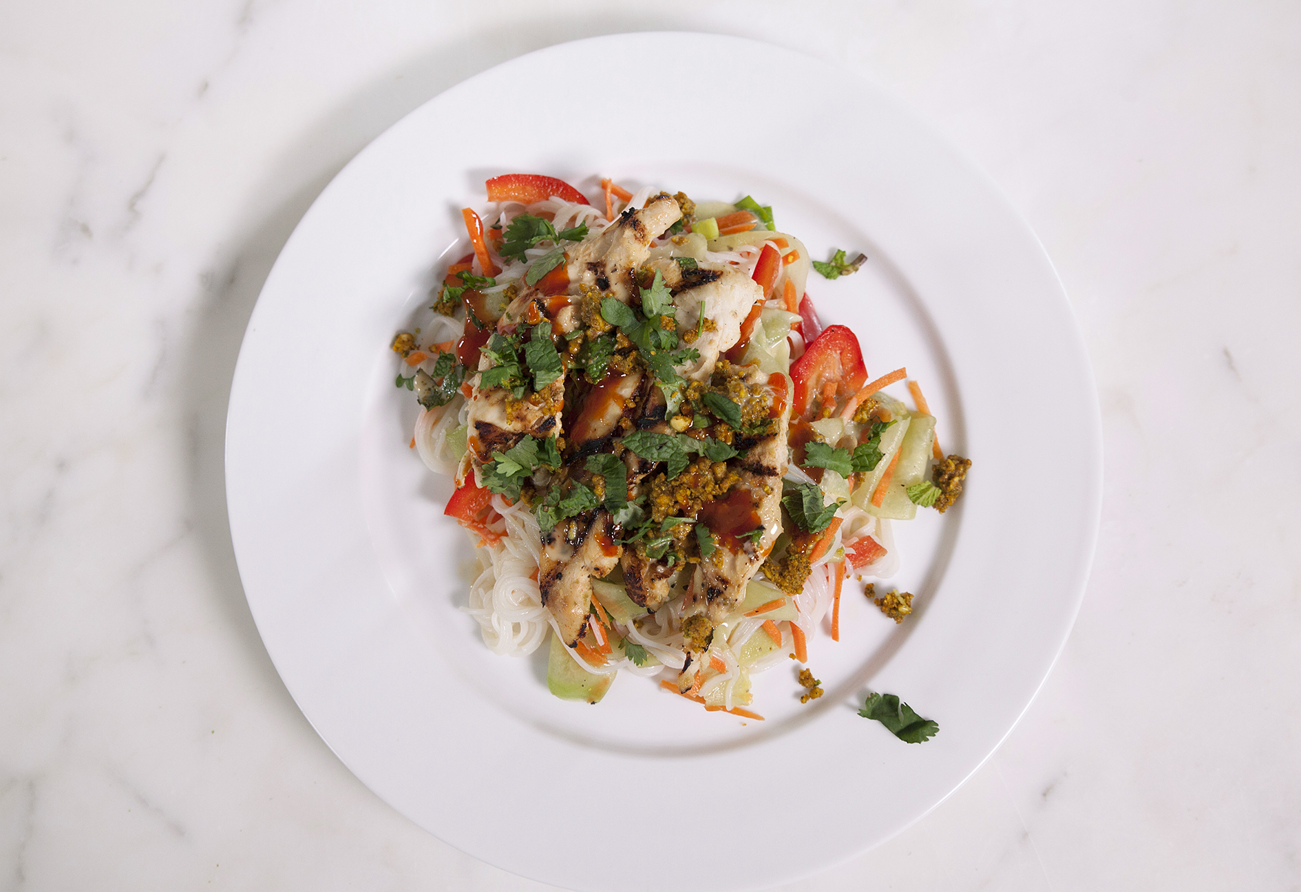 Green Chef's Spring Roll Chicken Salad.