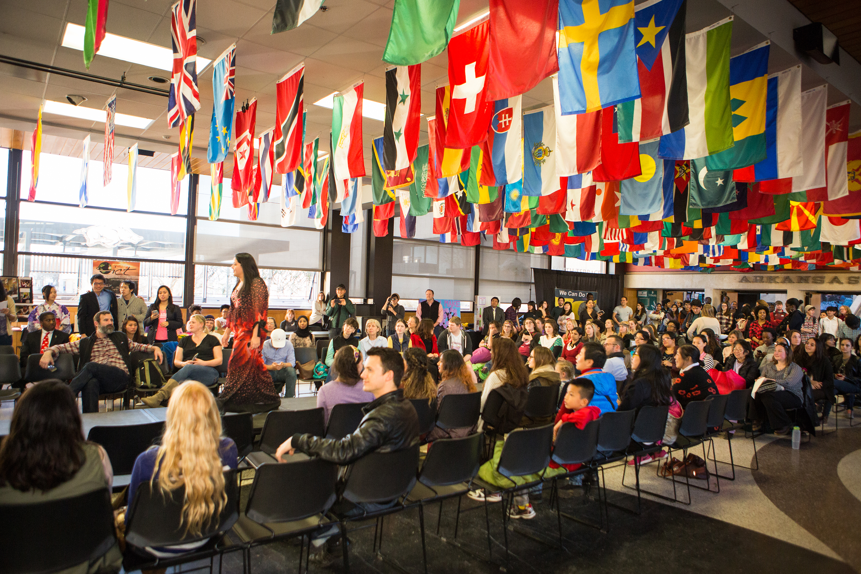 The University of Arkansas celebrated the role of women throughout the world.