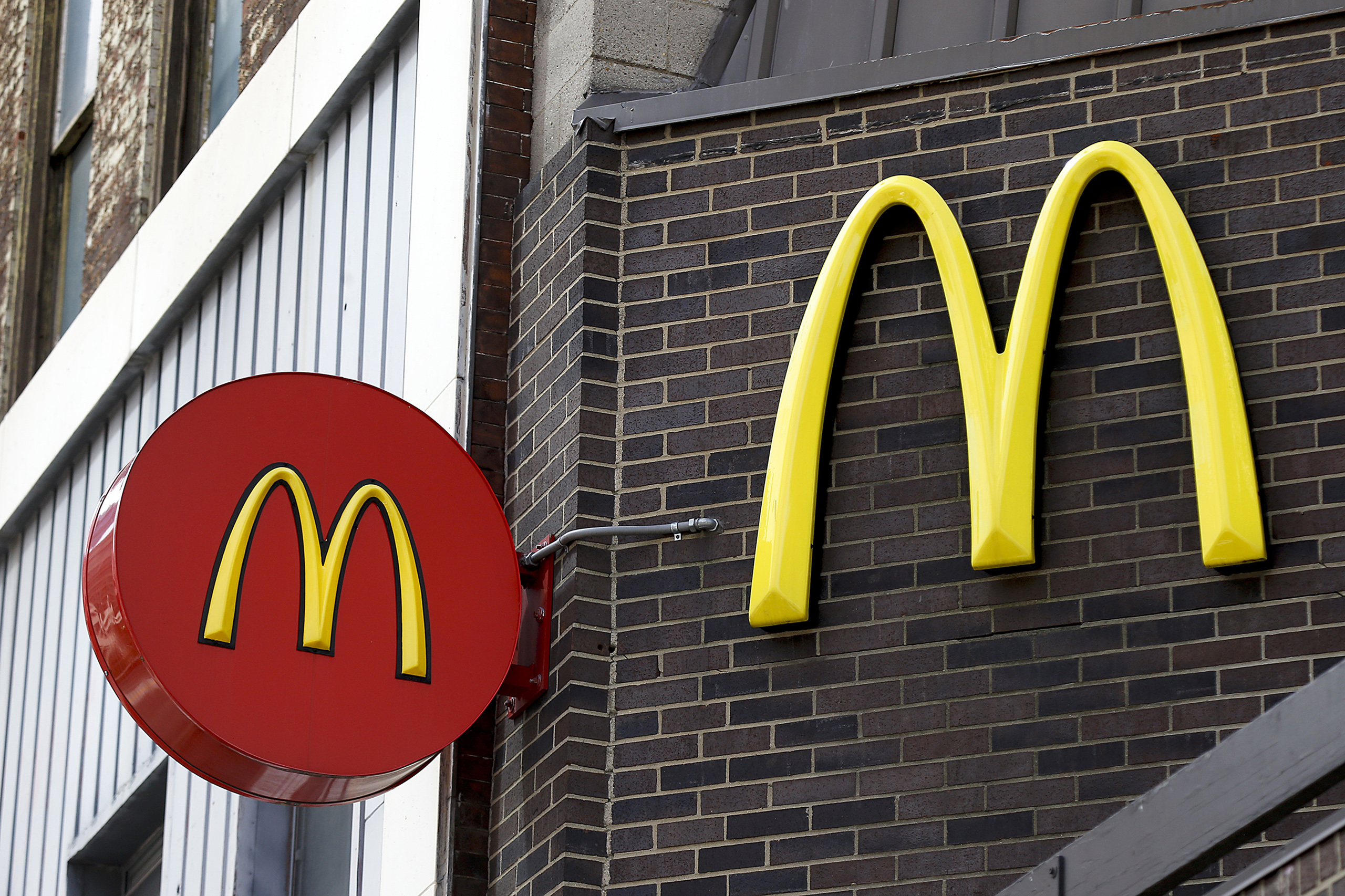 McDonald's restaurant in downtown Pittsburgh.