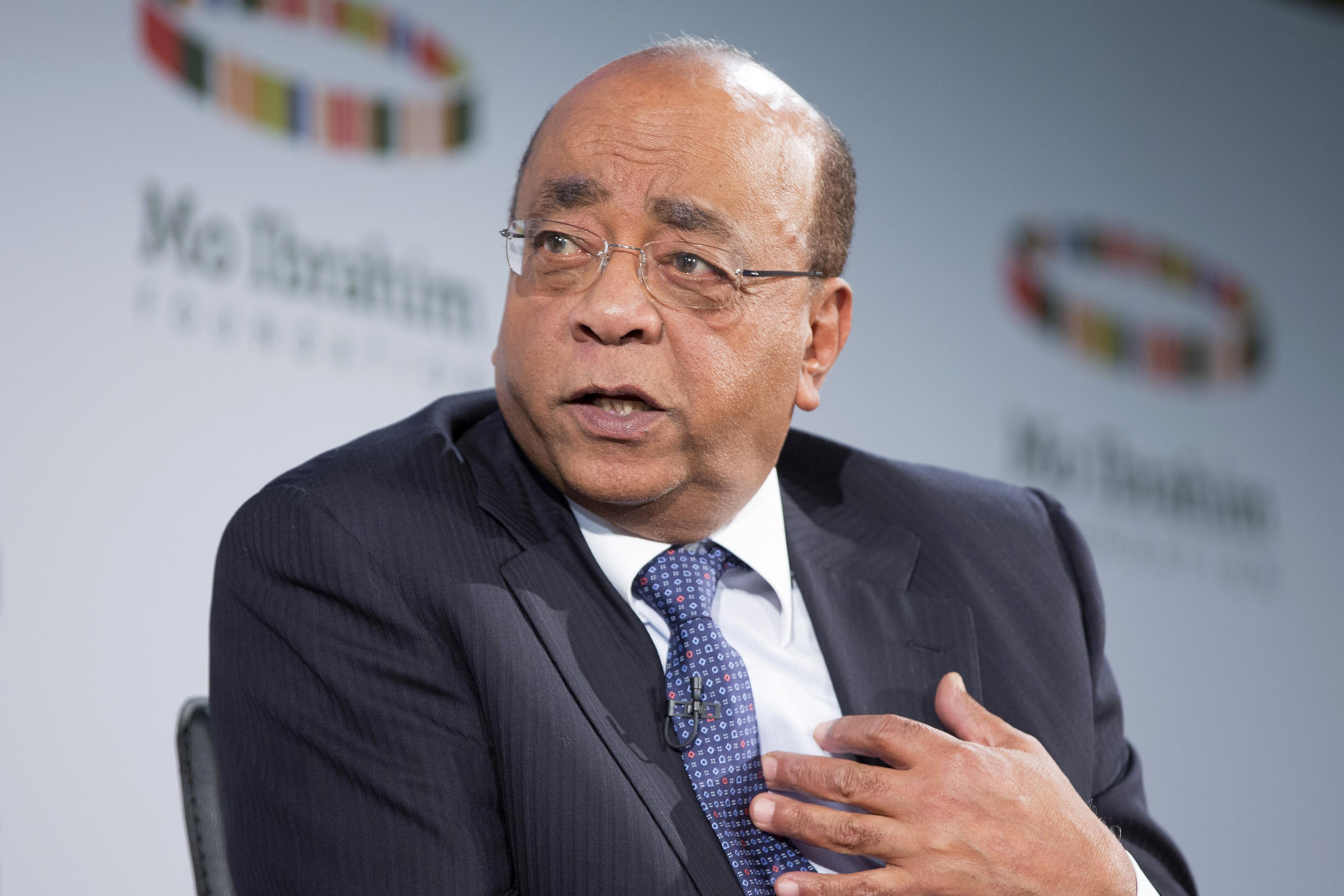 Billionaire Philanthropist Mo Ibrahim News Conference And Interview