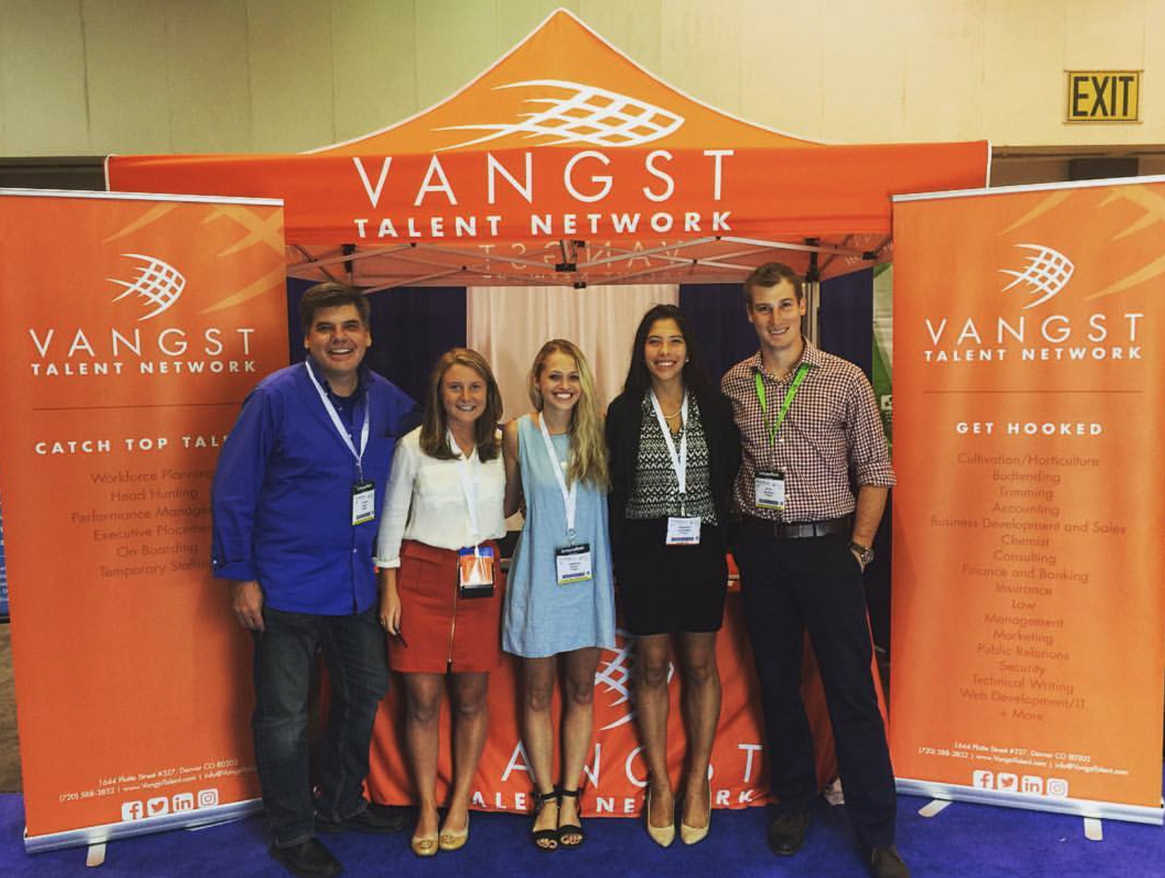 Karson Humiston (second from left) with four Vangst recruiters