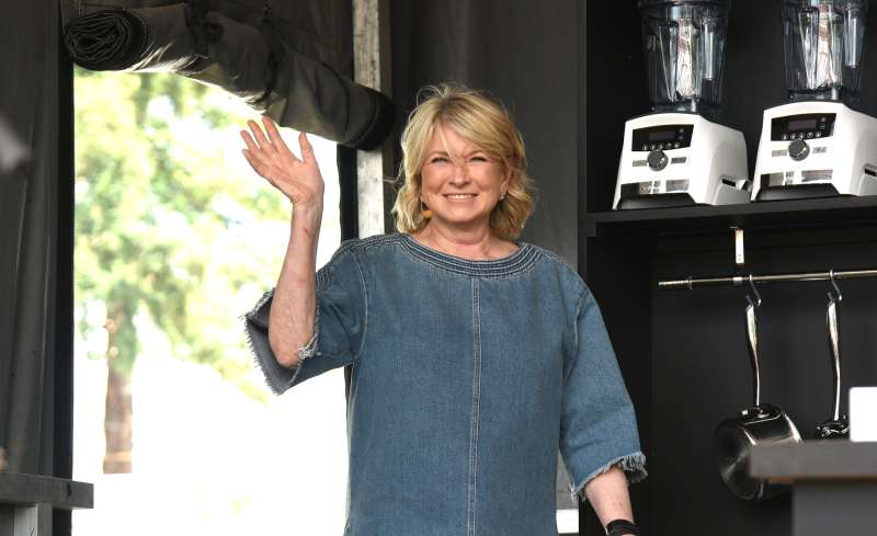 Martha Stewart is seen on the culinary stage during the 2017 BottleRock Napa Festival.