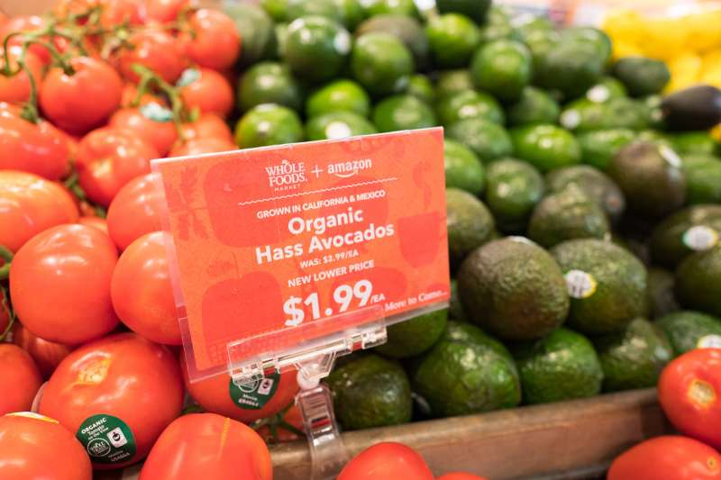 Whole Foods lowered prices on a limited selection of items on Monday, when Amazon took over ownership.