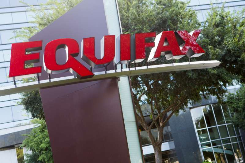 A logo sign outside of the headquarters of the consumer credit rating firm Equifax in Atlanta, Georgia on September 1, 2012. The company recently revealed a data breach that could have comprised the personal information of up to 143 million people.