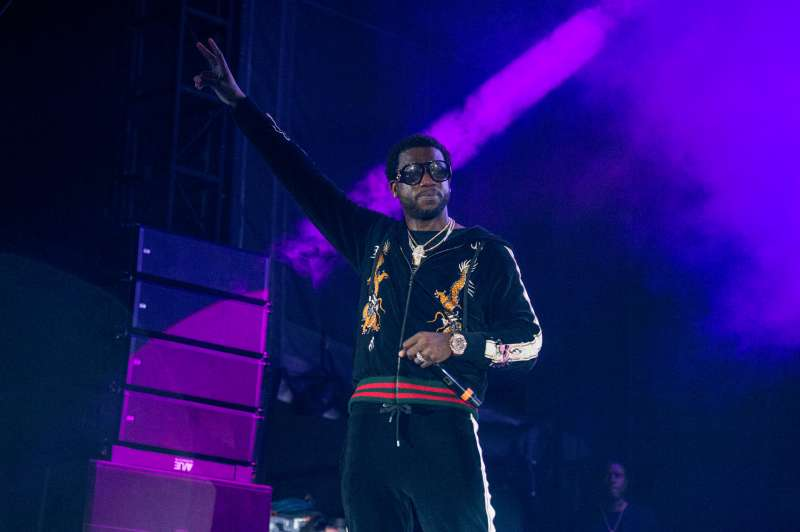 Gucci Mane performs at the Lil' WeezyAna Fest at Champions Square on Friday, Aug. 25, 2017, in New Orleans.