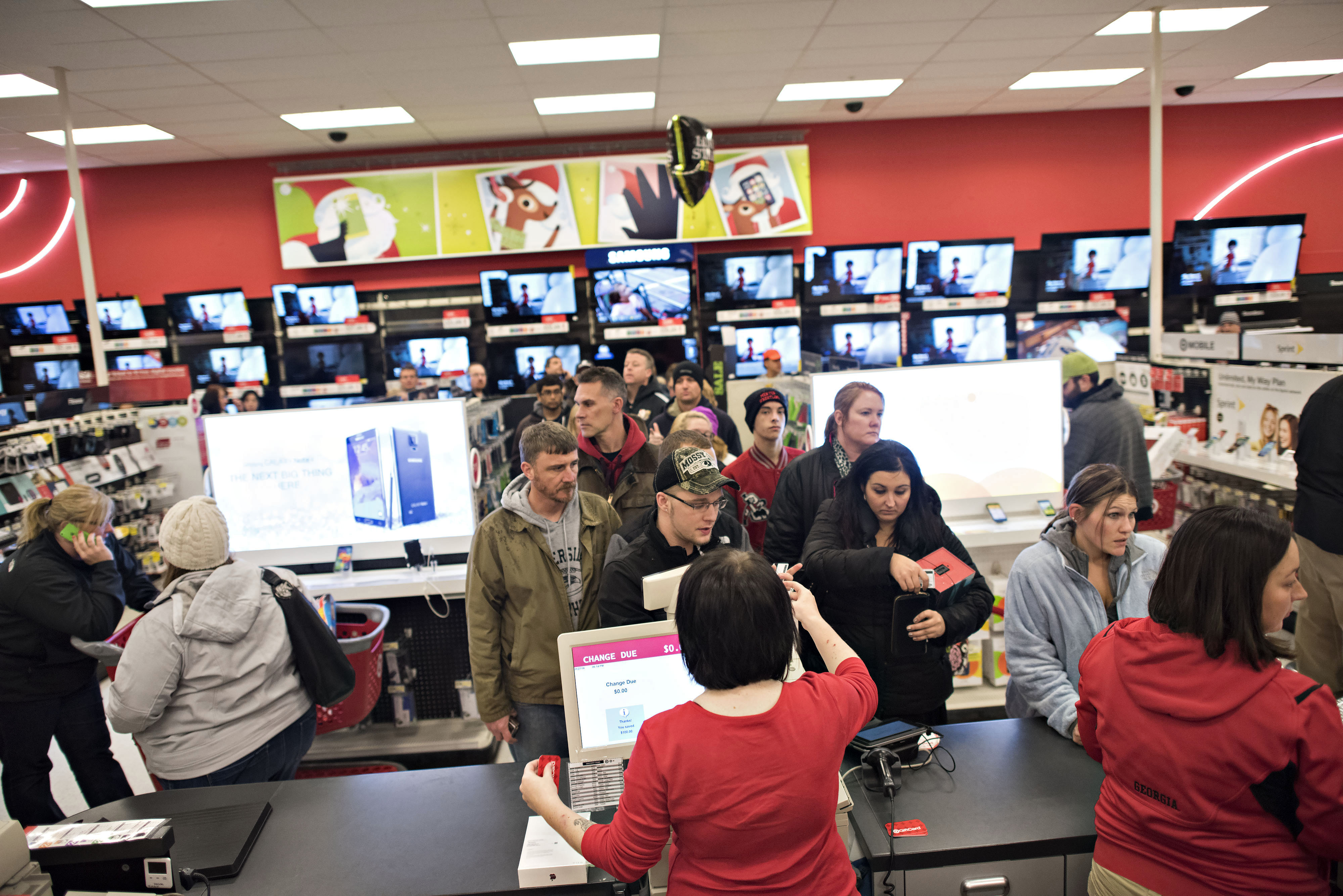 Shoppers Inside A [f500link]Target[/f500link] Corp. Store Ahead Of Black Friday Sales