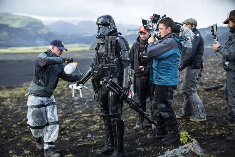 Behind the scenes of  Rogue One: A Star Wars Story.