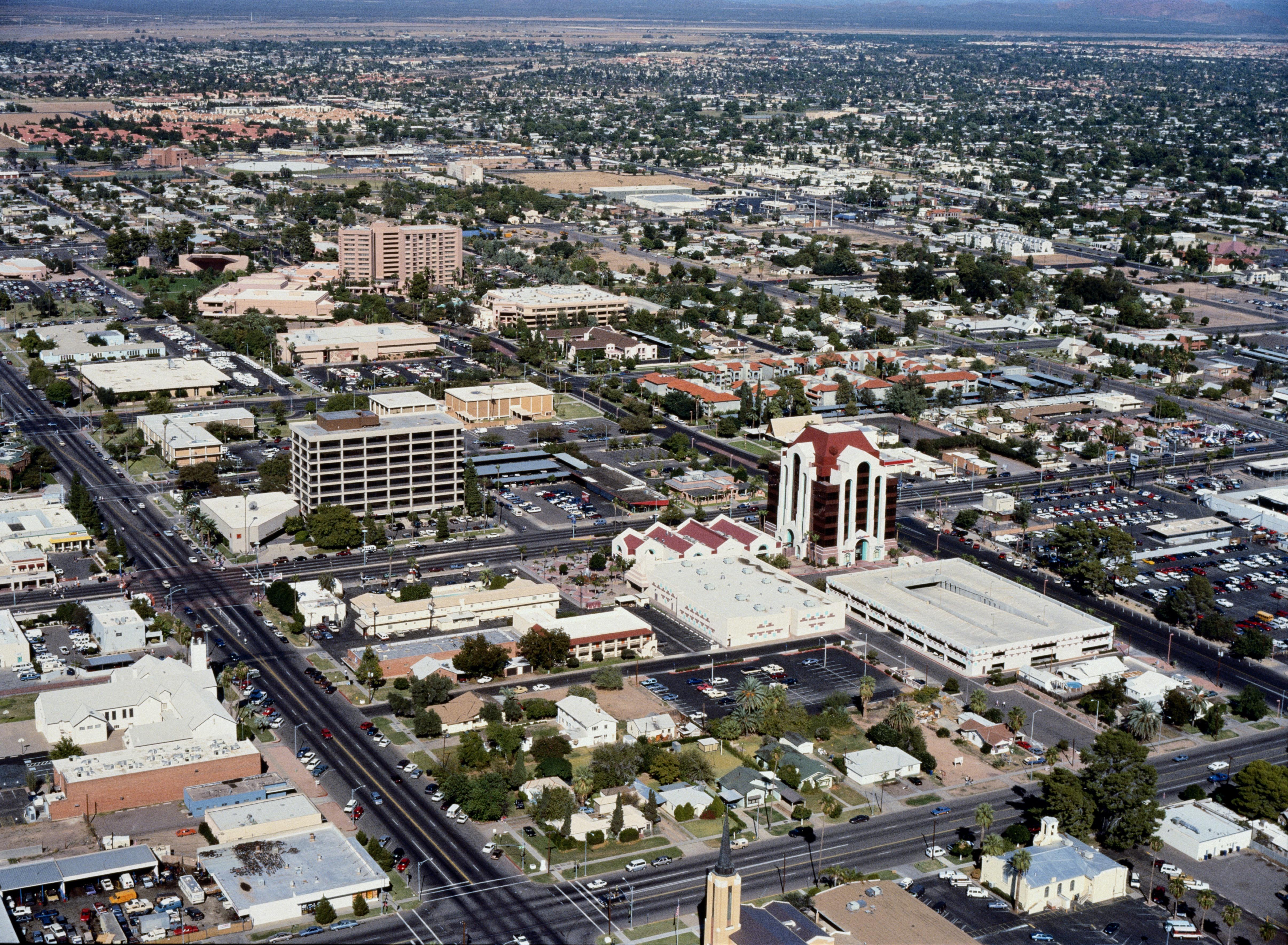 USA, Arizona, Mesa, cityscape, aerial view