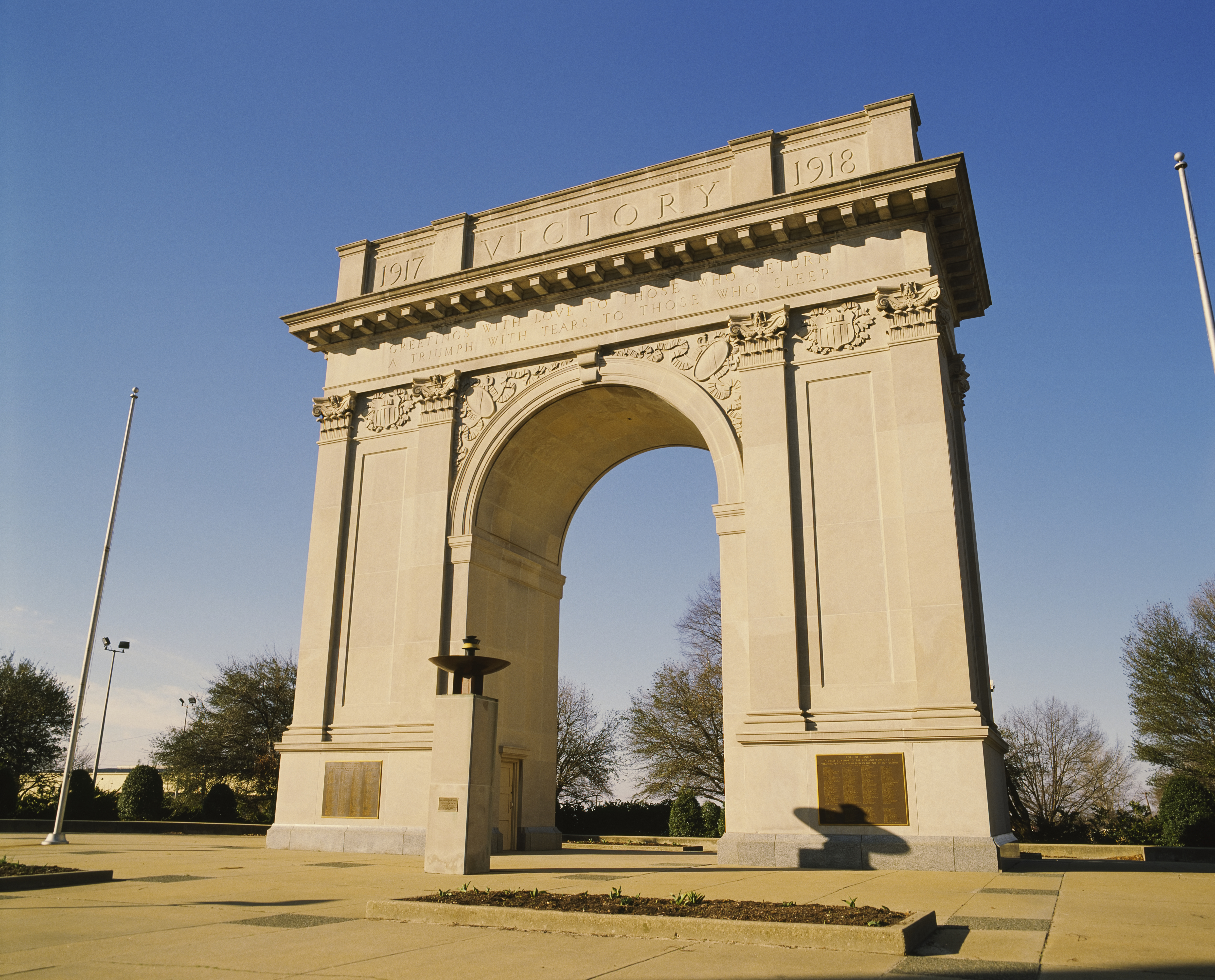 Low angle view of a triumphal arch, Newport News Victory Arch, Newport News, Virginia, USA