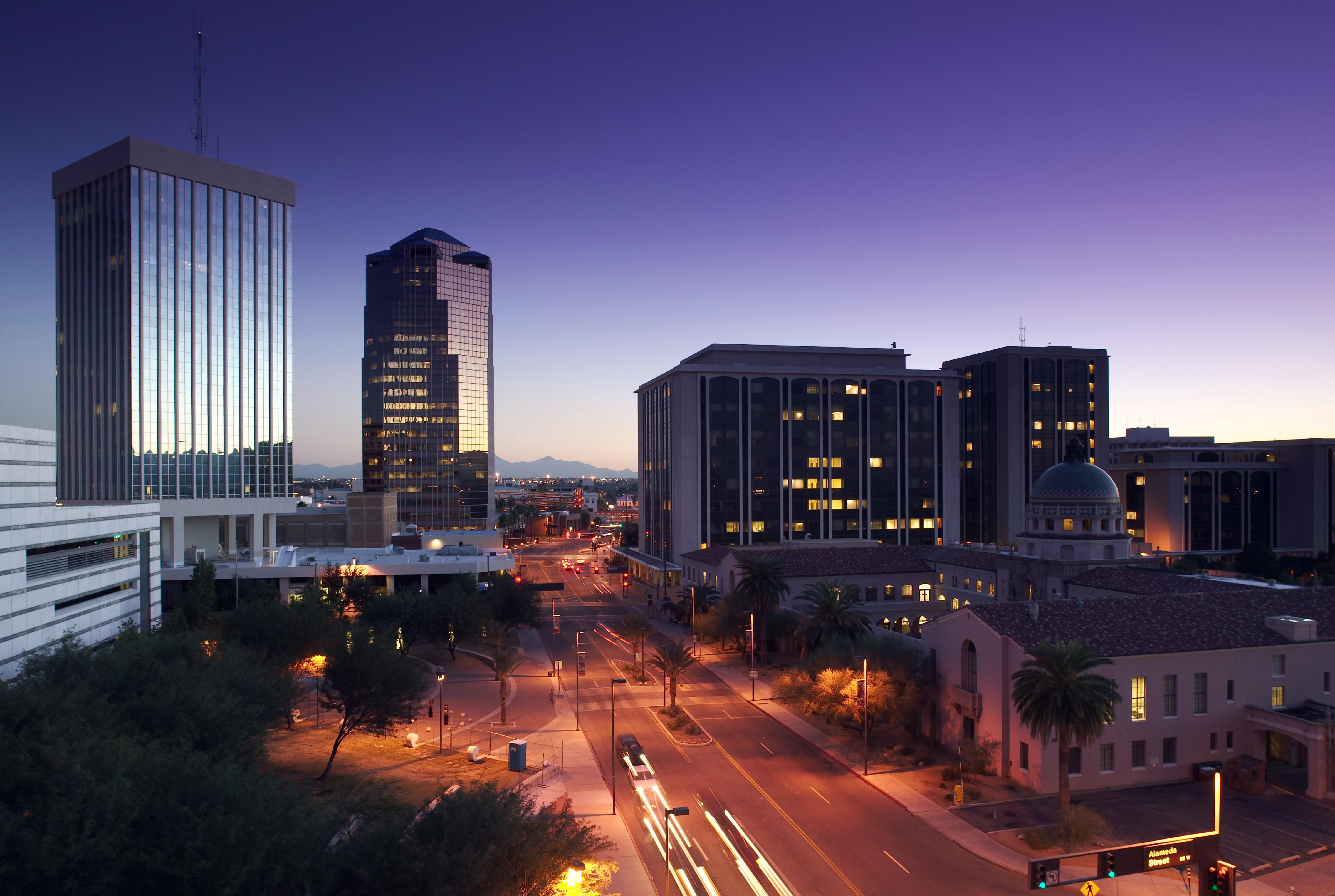 downtown tucson, arizona, usa