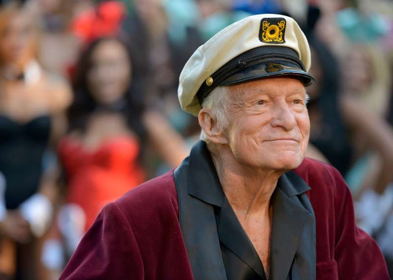 Hugh Hefner, celebrating Playboy's 60th anniversary at a special event in 2014.