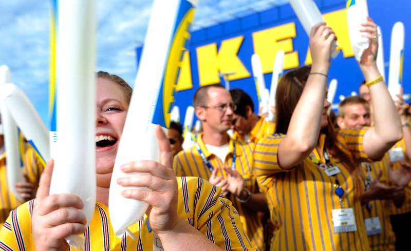 IKEA, a home furnishings retailer, opened the doors of it new store in Centennial on Wednesday, July 27, 2011. It is a 415,000 square-foot store employs more than 400 coworkers. Employee Christina Torres pounds a noisemaker at the opening.
