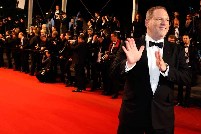 Producer Harvey Weinstein poses on the red carpet as he arrives for the screening of the film  Only God Forgives  in competition during the 66th Cannes Film Festival in Cannes May 22, 2013.