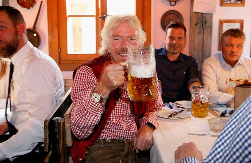 Richard Branson during the Oktoberfest at Theresienwiese on September 26, 2016 in Munich, Germany.
