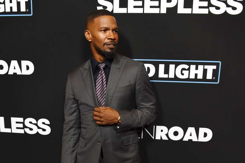 Actor Jamie Foxx arrives at the premiere of Open Road Films'  Sleepless  at the Regal LA Live Stadium 14 on January 5, 2017 in Los Angeles, California.