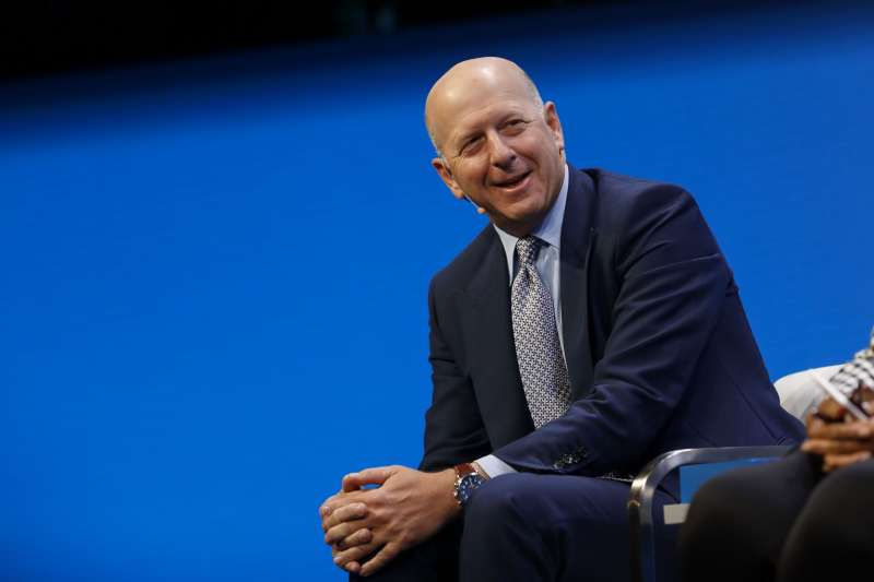 David Solomon, co-president and co-chief operating officer of Goldman Sachs & Co., speaks during the Milken Institute Global Conference in Beverly Hills, California.