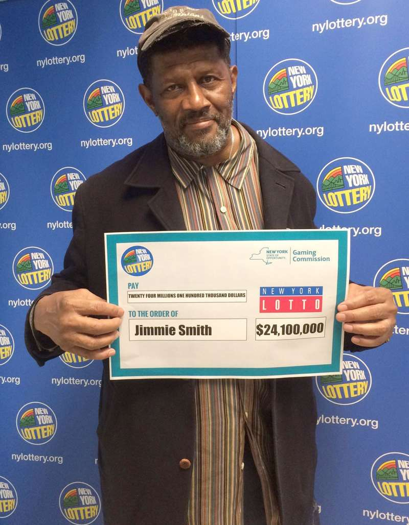 Jimmie Smith claimed the $24.1 million New York Lotto jackpot from the drawing held on May 25, 2016 - just days before the ticket was set to expire.                              Credit: NY Gaming Commission