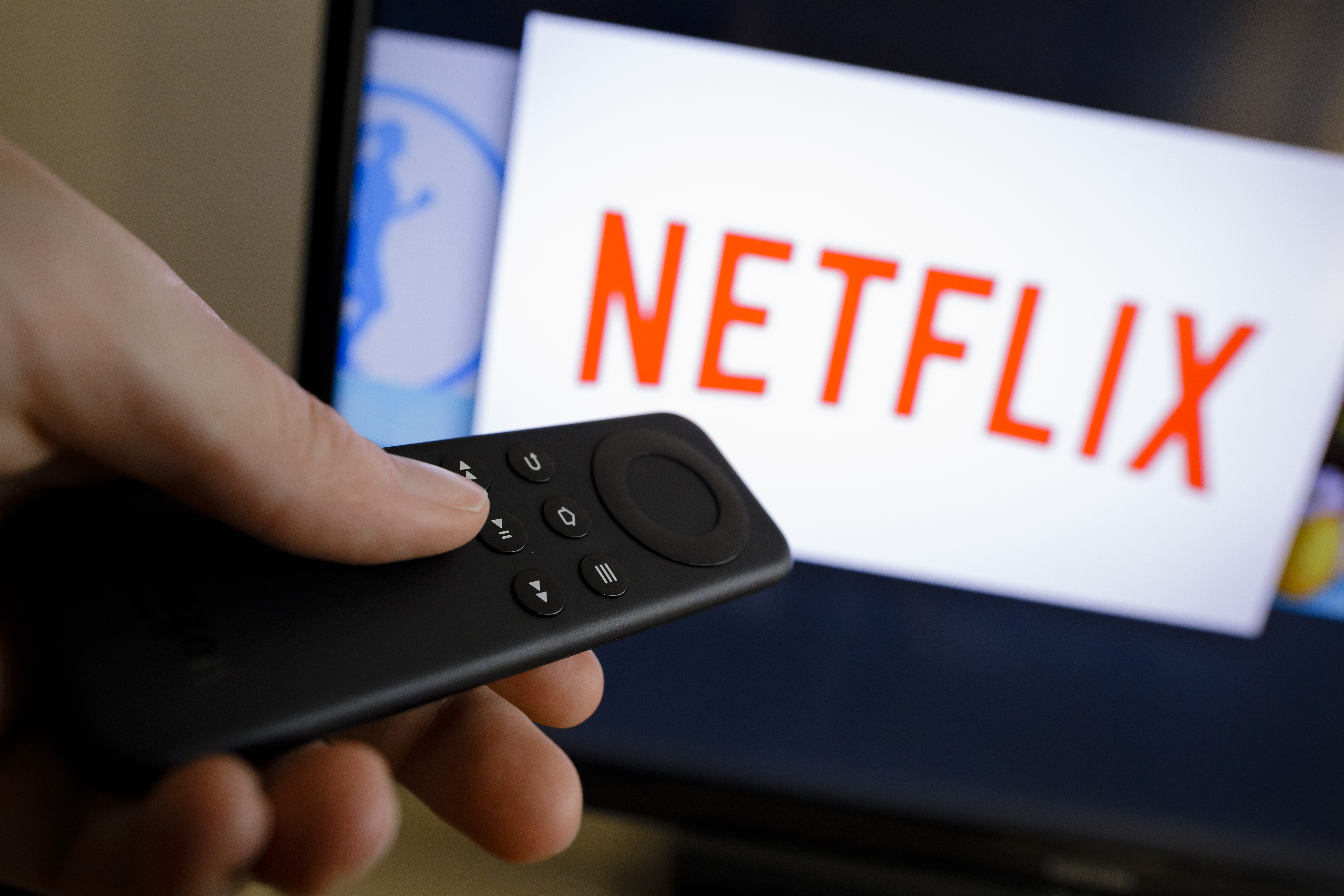 The logo of the media company Netflix can be seen on a TV on April 18, 2017 in Berlin, Germany.