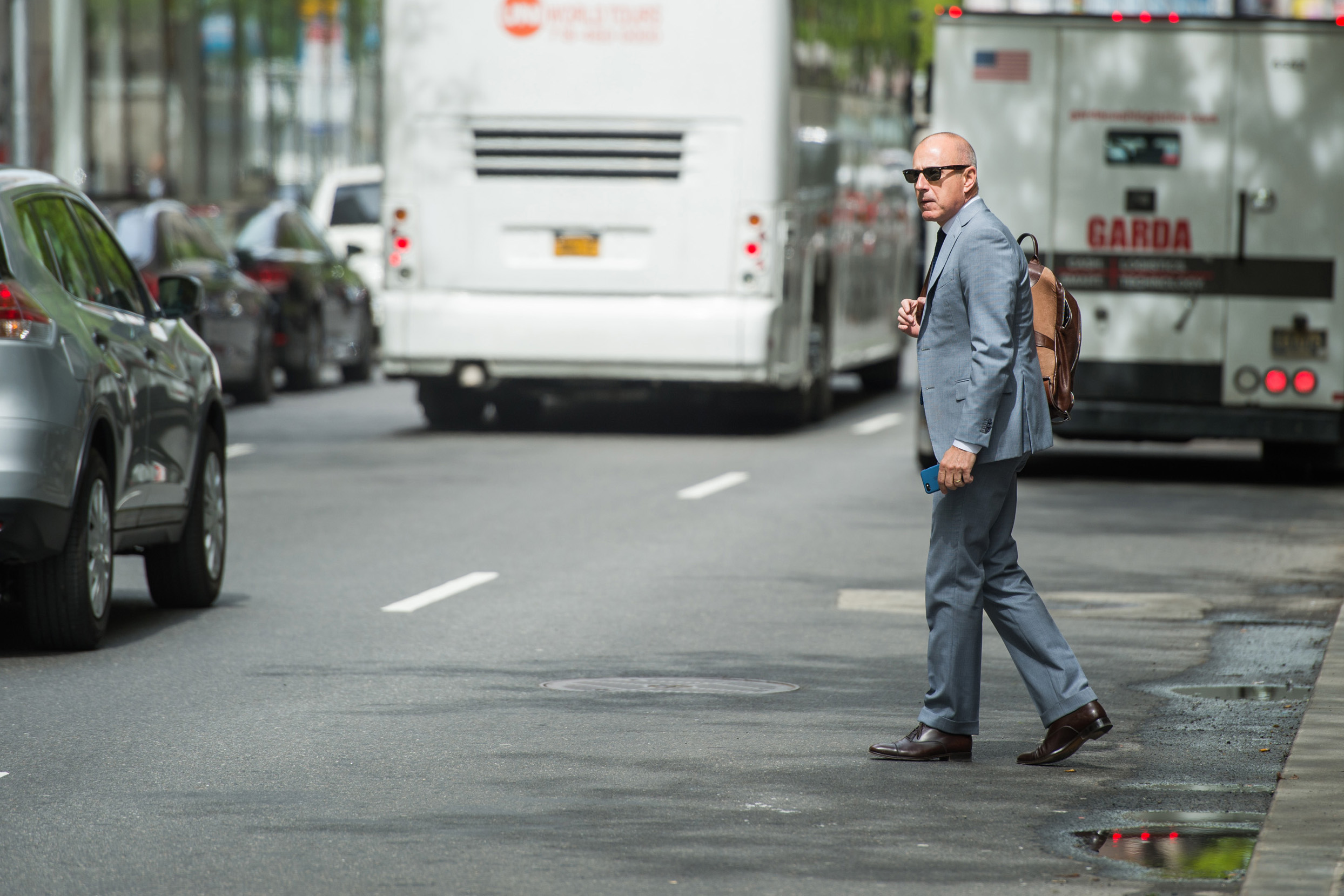Matt Lauer Streets New York
