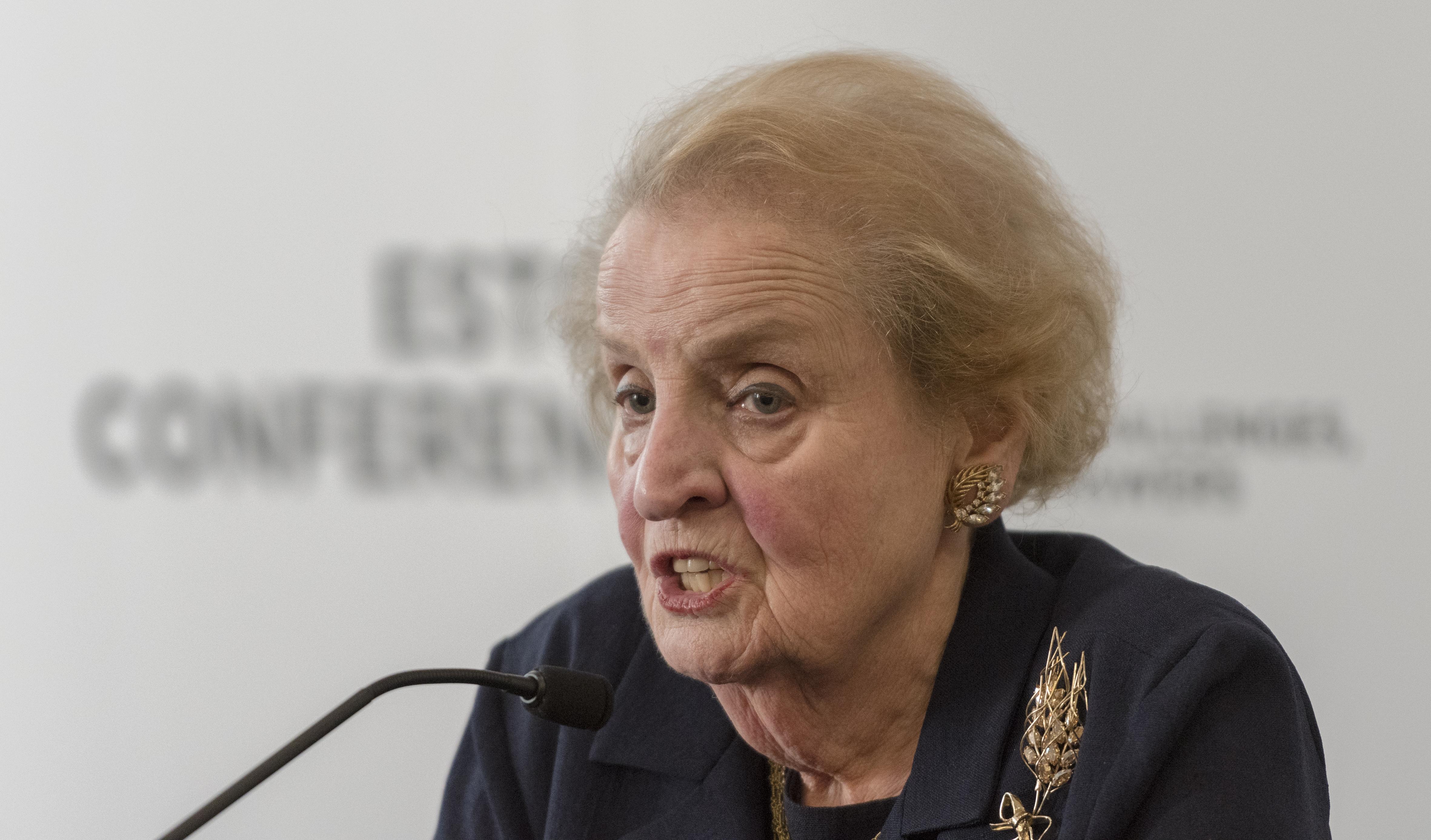 Former United States Secretary of State Madeleine Albright at Estoril Conferences 2017