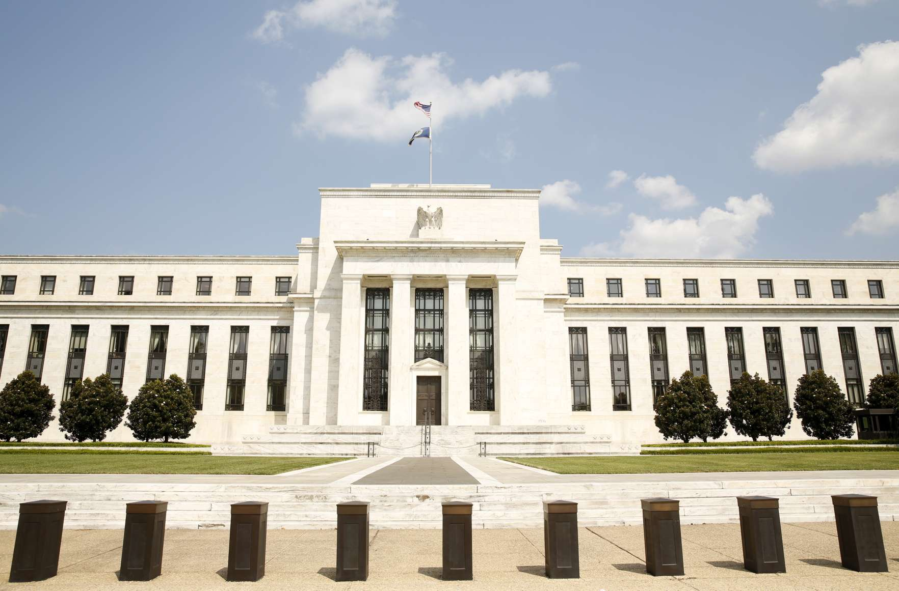 The Federal Reserve building in Washington September 1,  2015.  Central bankers from around the world are telling their American counterparts that they are ready for a U.S. interest rate hike and would prefer that the Federal Reserve make the move without further ado.  REUTERS/Kevin Lamarque  - GF10000189181
