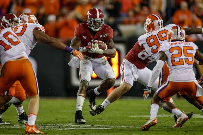 Last years's College Football Playoff National Championship game featured the Alabama Crimson Tide and the Clemson Tigers.