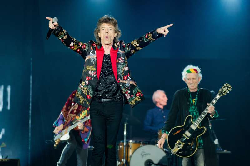 The Rolling Stones perform at U Arena on Oct. 19, 2017 in Nanterre, France.