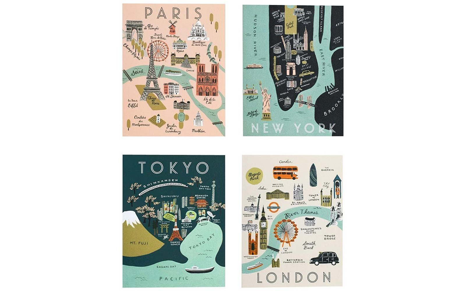 Rifle Paper Co City Map Set Gift Guide Under $25