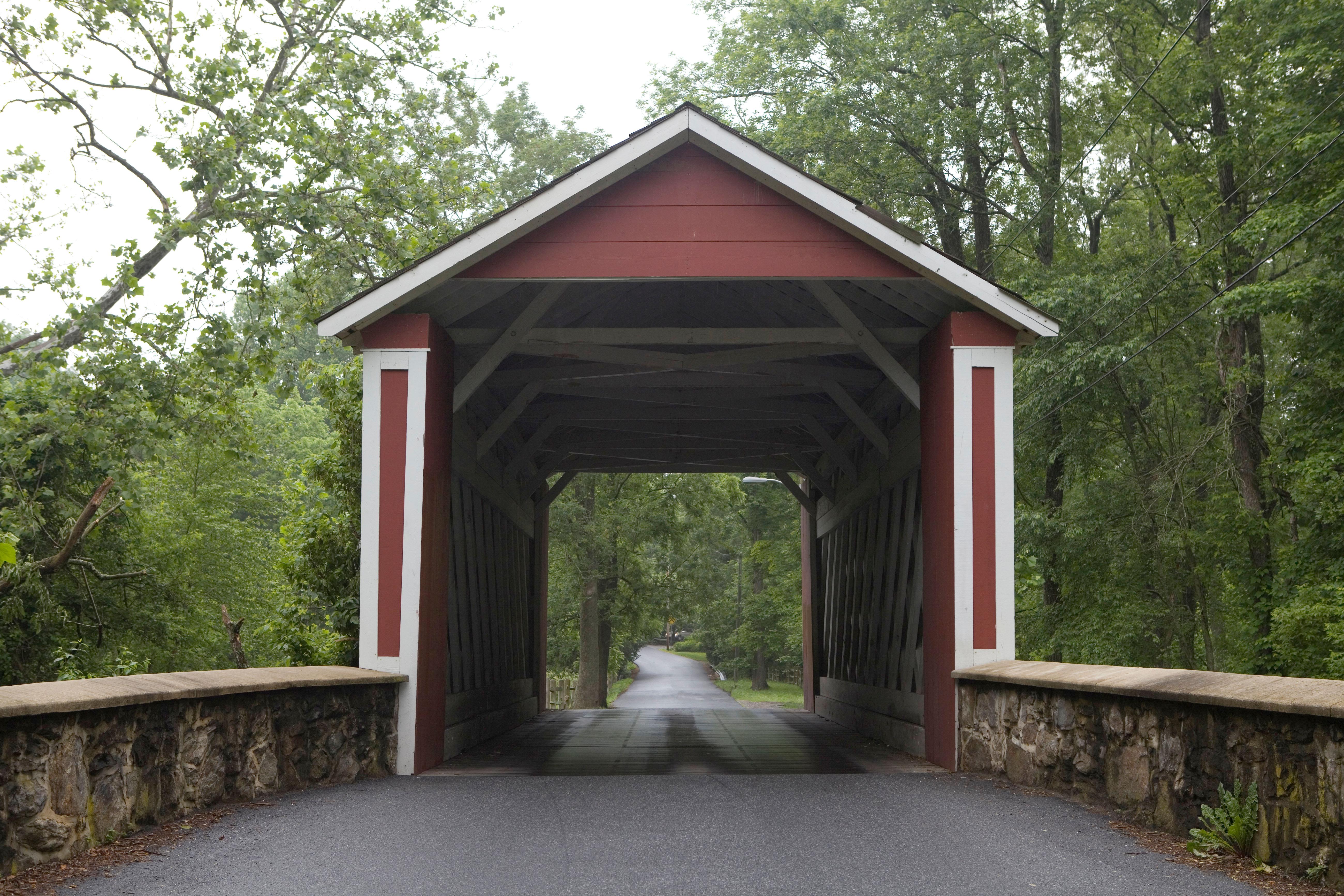 Ashland Covered Bridge over Red Clay Creek, Hockessin, Delaware. Photo by Janet Worne